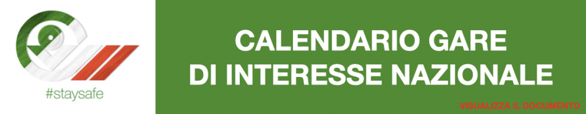 Calendario gare interesse nazionale